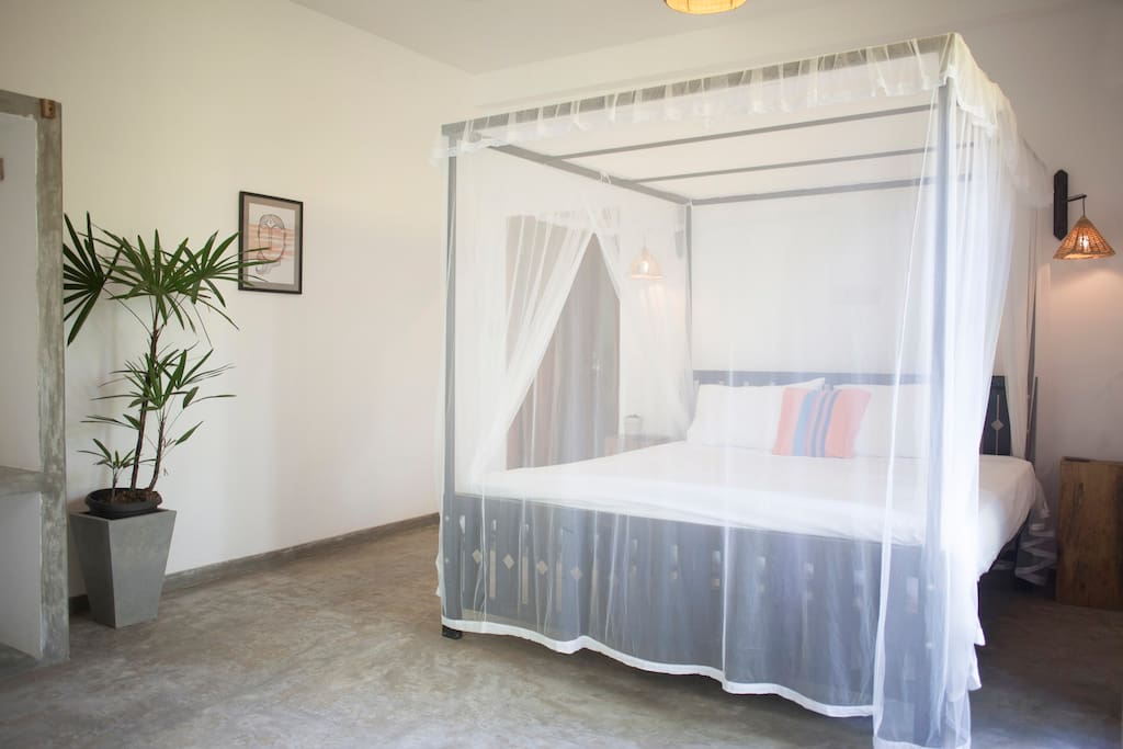 Superking size bed, air con and fan make the bedroom a great place to unwind