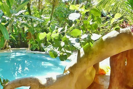 Caribe Town AC/TV bungalow @ hotel w POOL - Puerto Viejo de Talamanca - Cabin