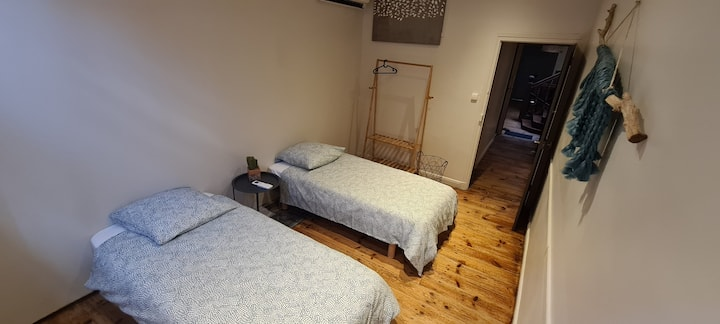 Chambre 2 pers,SdB, WC privés, 60€/nuit