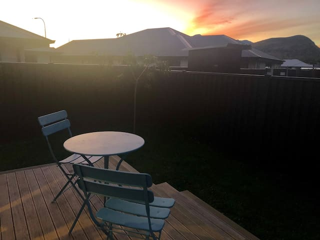 Sunset view from your private deck !