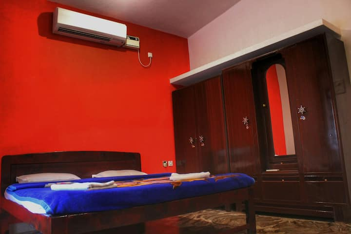 Fully furnished 1bhk house, nature friendly..