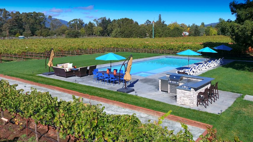 Sonoma Wine Country Sanctuary Set Among Vineyards