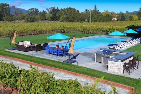 2+ Acres w/ Vineyard, Pool, Spa+ near Sonoma Sq - Sonoma - Σπίτι