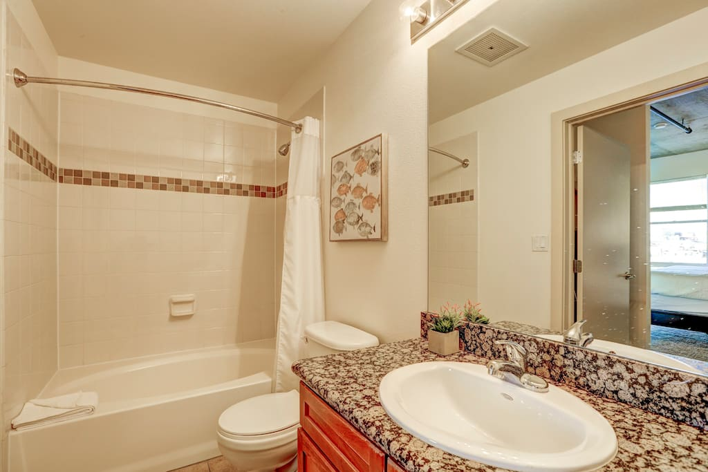 Bathroom at Premier Lofts by Stay Alfred