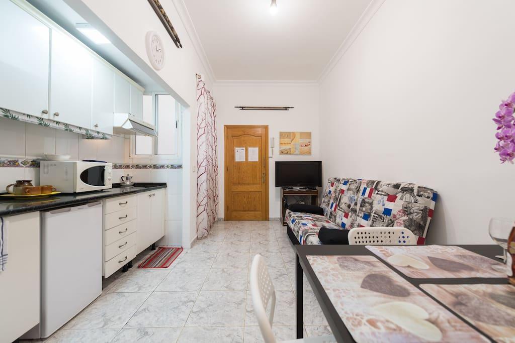 living room ampia e spaziosa