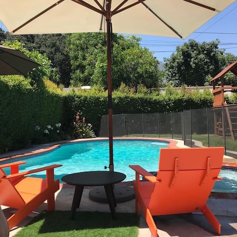 Modern Spanish Home w Pool & Garden
