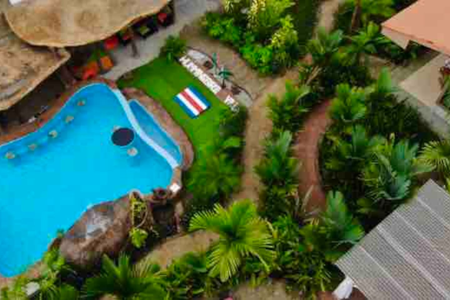 Aereal view of the swimming pool