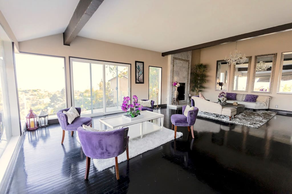 Huge great room with glass sliders and perfect ambience views.