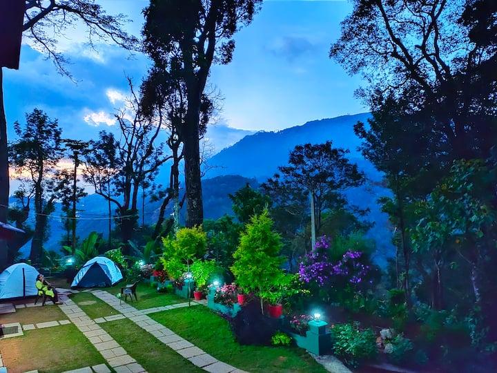 Munnar estate camping with pandavarmala trekking