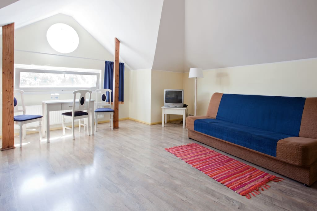 Old town Tallinn City view, TV, Telephone, Cable channels, Desk, private bathroom with shower in third floor.