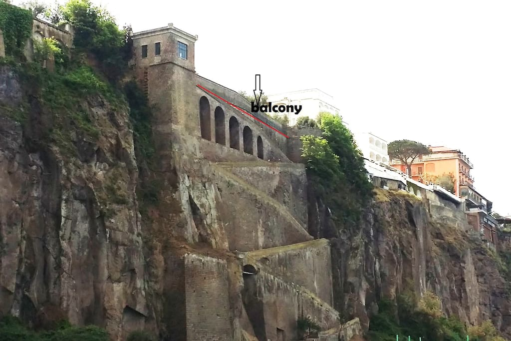 the piece of coast owned by Villa Tozzoli - the balcony apon it
