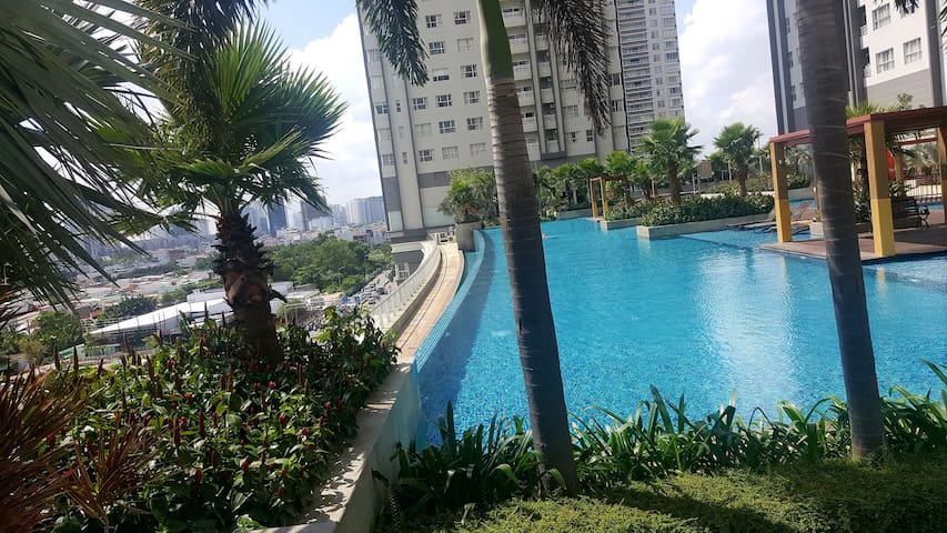 High floor privat room with amazing swimming pool