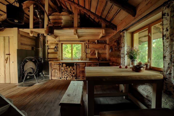 Туристический эко-комплекс Мазаная Горка дом Озерный с баней на реке