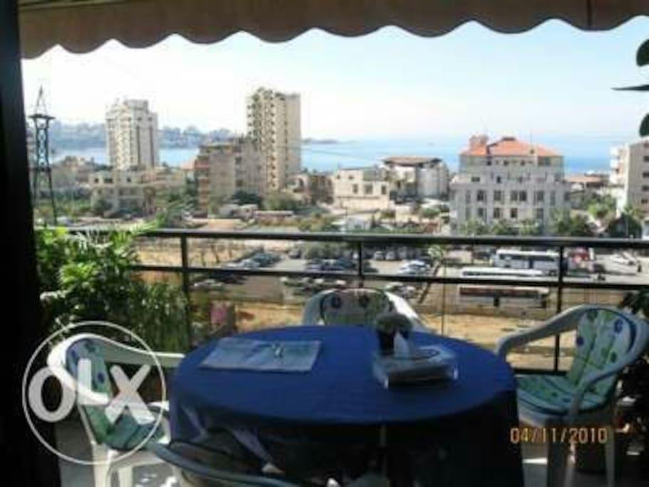 Main balcony with sea view