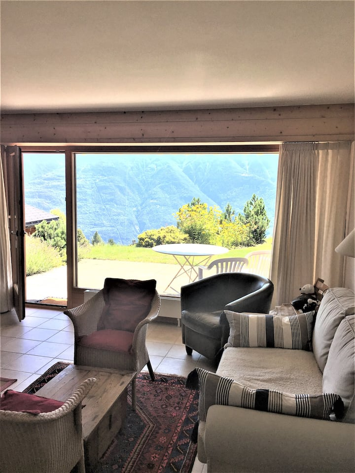Joli appartement à Ovronnaz - vue Alpes