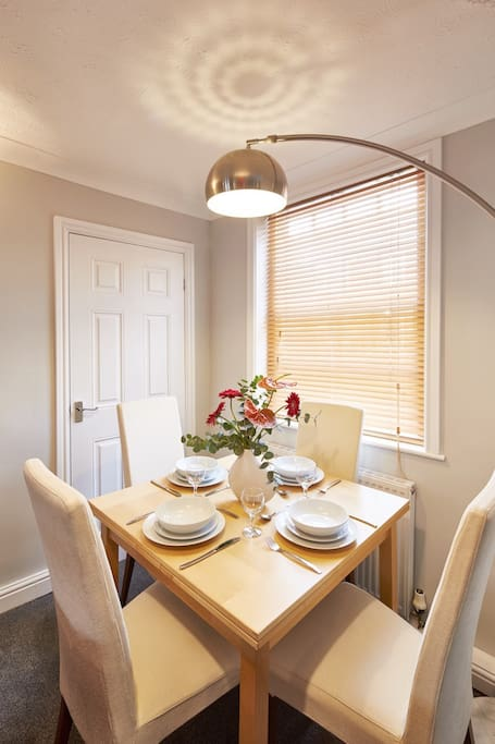 Dining at Bright Moments Holiday Cottage