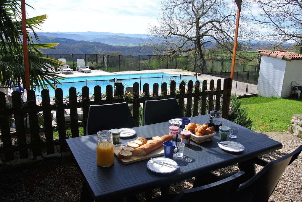 Breakfast with a view at La Violette