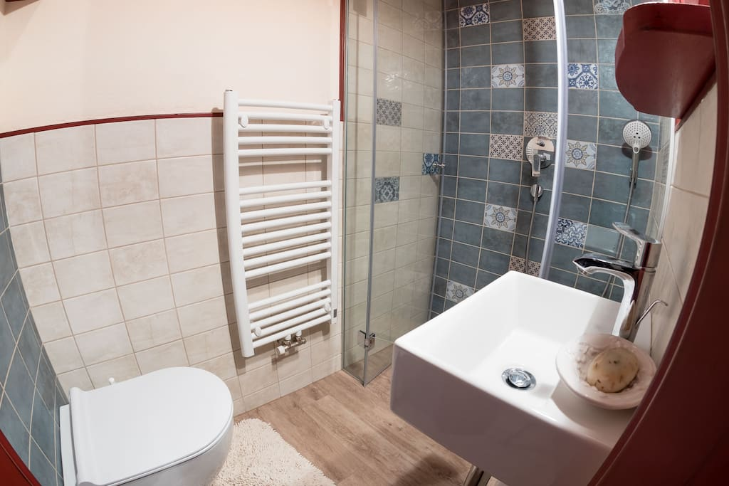 Private bathroom in the apartment