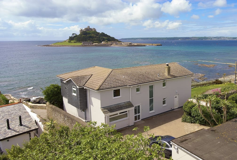 Beautifully renovated Captain's House is in a spectacular location looking out over St Michael's Mount
