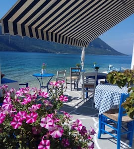MITIKAS (Lefkada) HOUSE on a Beach  Sleeps 4/5