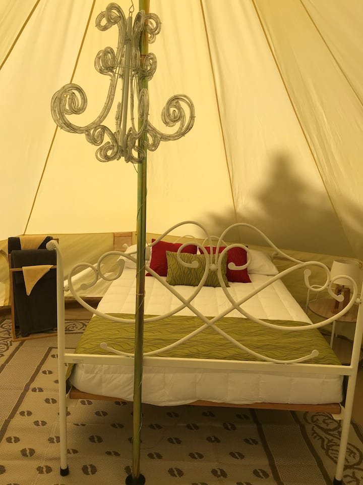 Glamping at Leithfield Beach