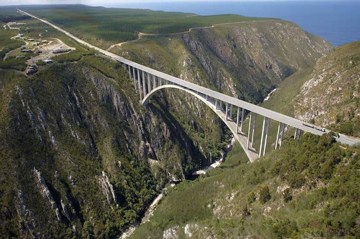 Bloukrans Bungee, highest commercial bungee in the world, 216m if you brave;-) - get 10% discount