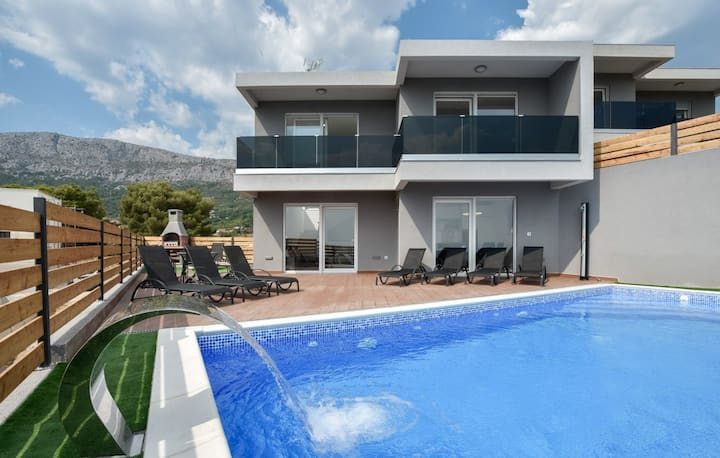 Sea and City view Villa Omega with heated pool