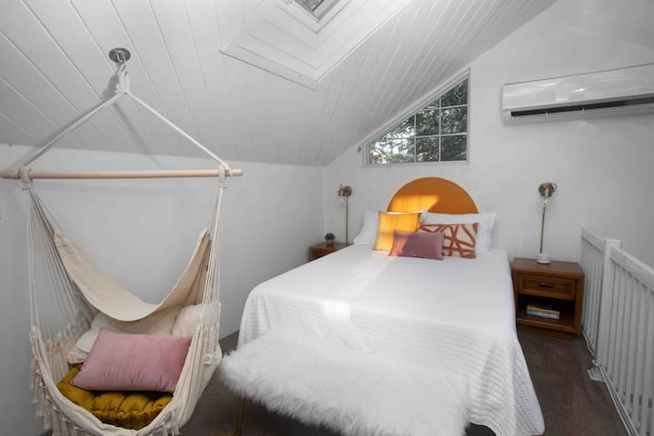 """""""The Treehouse is awesome!! It's so roomy, and the beds are comfy. This is definitely one of the best value Airbnb's we have ever stayed in."""" -Lucia  ⭐⭐⭐⭐⭐"""