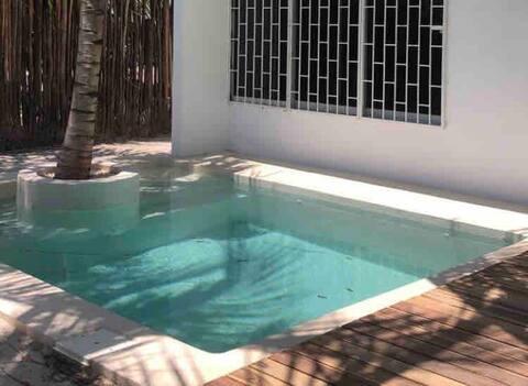 Estudio nuevo c/alberca y terraza grande Casa Pia
