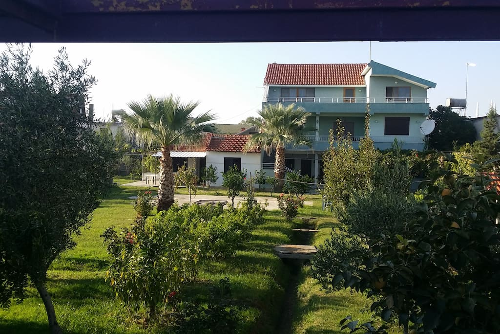 Main view of the surroundings of the villa