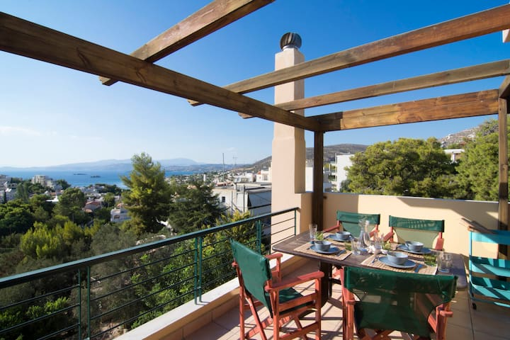 Saronida Super House # Splendid Sea View - Saronida - Huis
