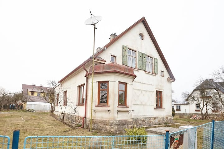 100 years old German house with garden