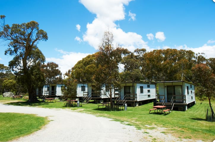 Set in a park like setting our 6 budget cabins are self contained, warm, comfortable and well maintained.