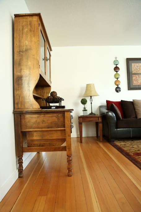 Walking into the living room