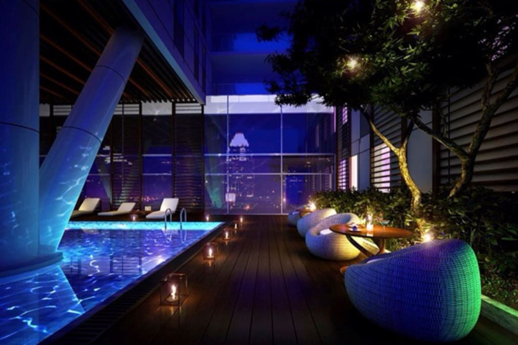 Infinity Edge Pool Apartment Sky View Apartments For Rent Chi Minh City