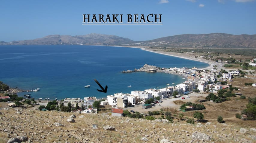Budget Studio with a great sea view - Charaki - Apartament