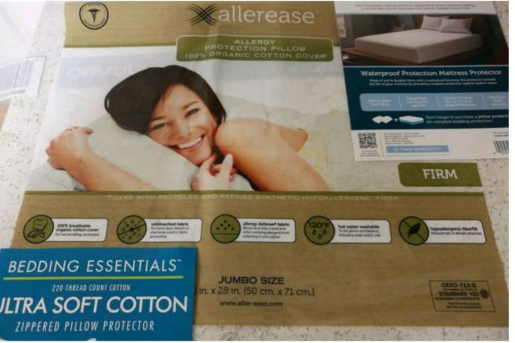 For health & cleanliness,  mattress & pillows have protectors