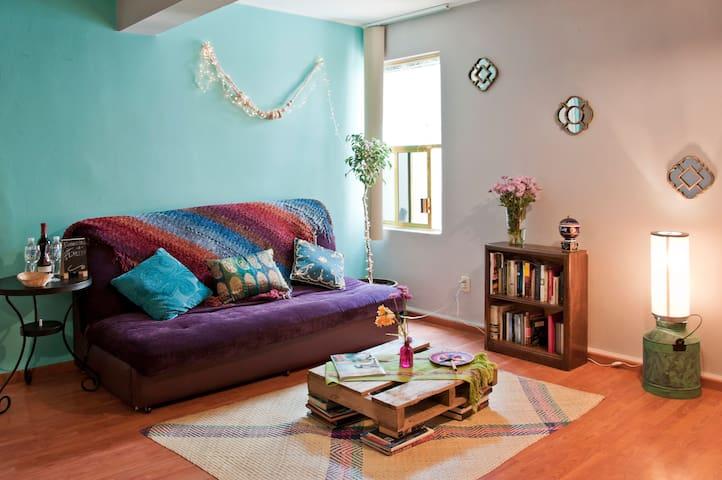 L'Olive cozy terrace apartment - Mexico City - Lägenhet