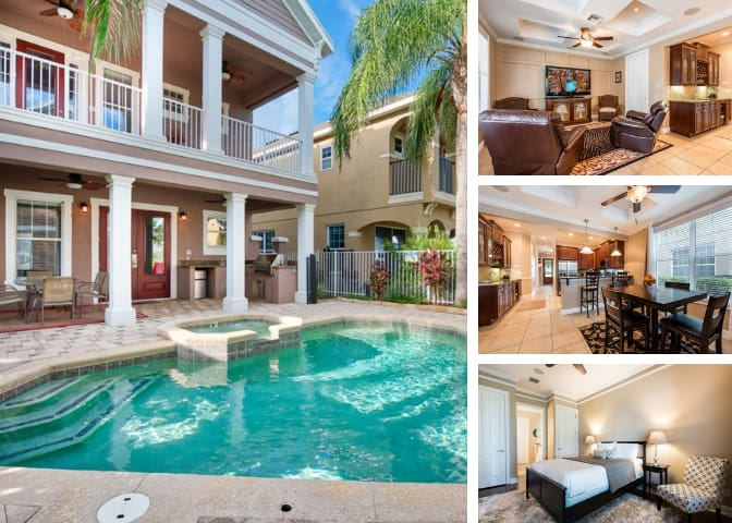 LUXURIOUS GATED VILLA  POOL/SPA  Disney (1 exit)