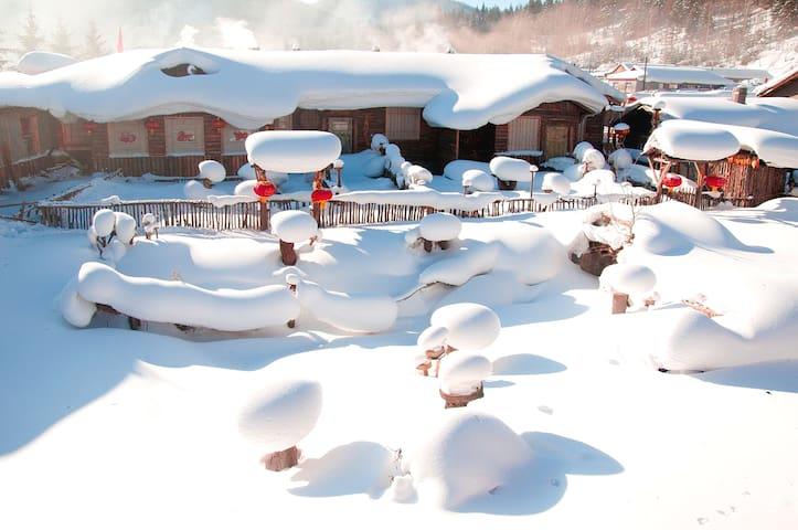 雪乡景区内,雪韵大街,黄剑飞家庭旅馆