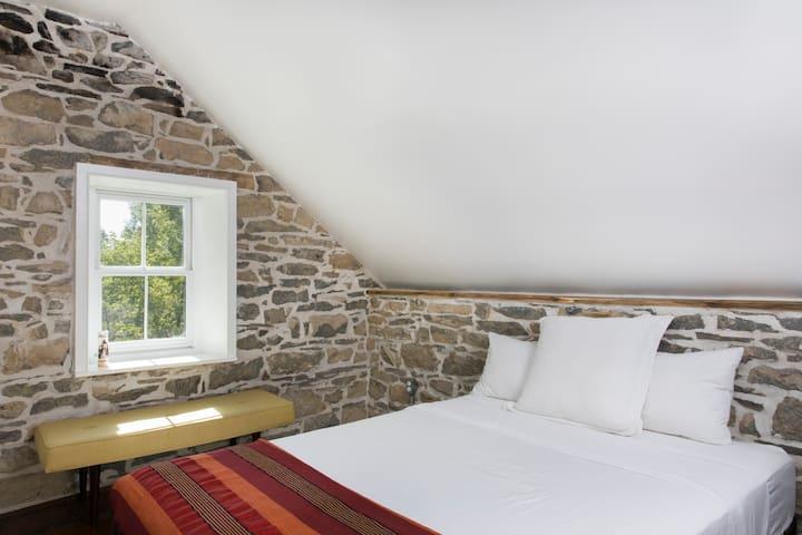 Queen size bedroom in the guest wing
