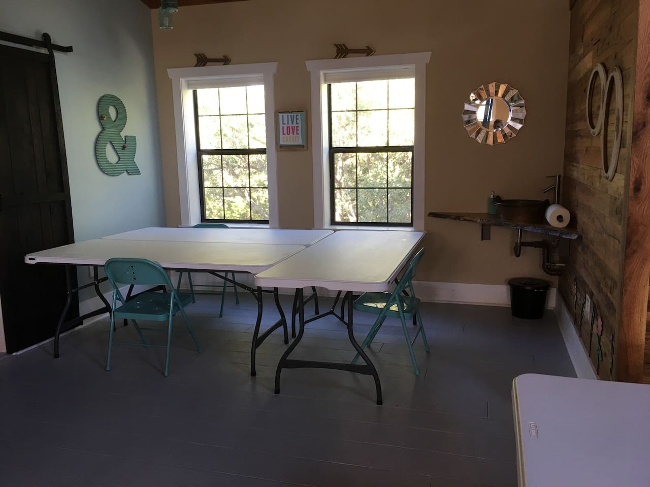 Craft Area, if requested with 6' tables