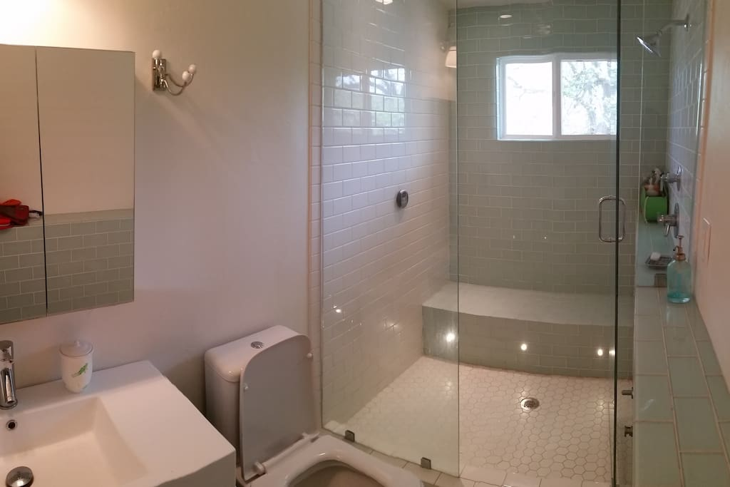 Upstairs full bathroom with steam shower