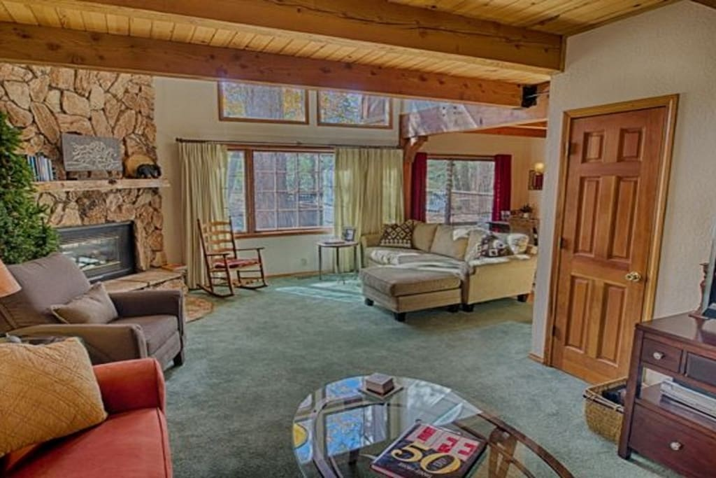 Warm and Welcoming Living Room with Gas Fireplace
