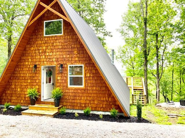 NEW!!  The Back Porch ~ Modern A-Frame with a View