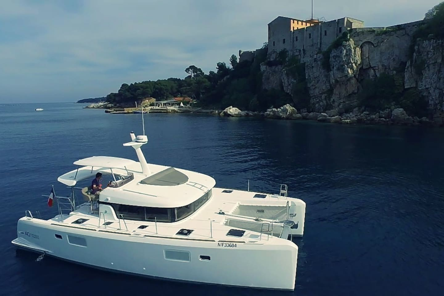 spacious motor yacht catamaran Antibes