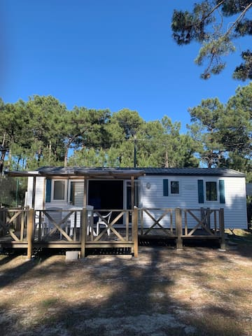 Mobil home 6 pers,Camping municipal 2** Montalivet