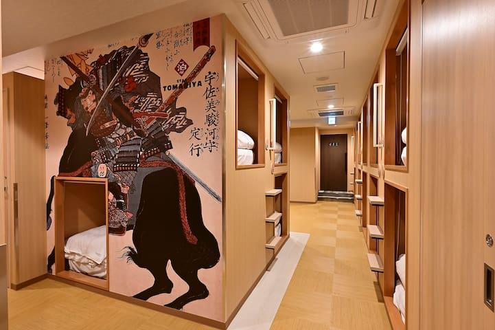 5F8【Women only】5 min to Ueno sta./ capsule hotel