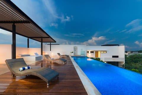 🌱 Modern Studio · piscina infinita y terraza privada