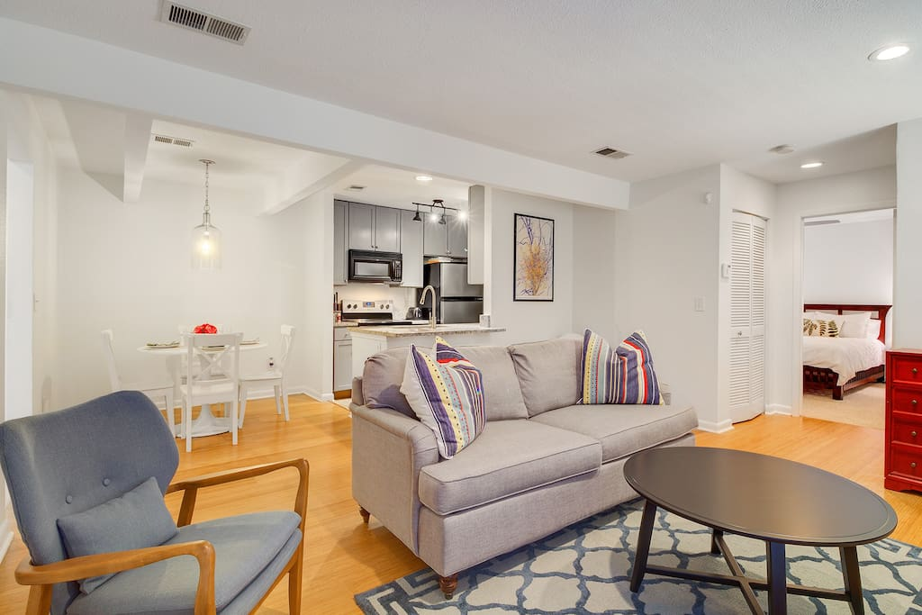 Updated, inviting living space to kick back and relax!
